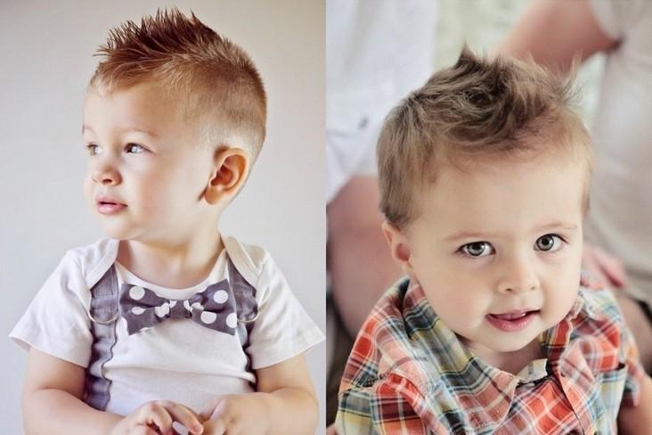 Детские стрижки маленьким мальчикам 1 и 1,5 лет, простые и легкие