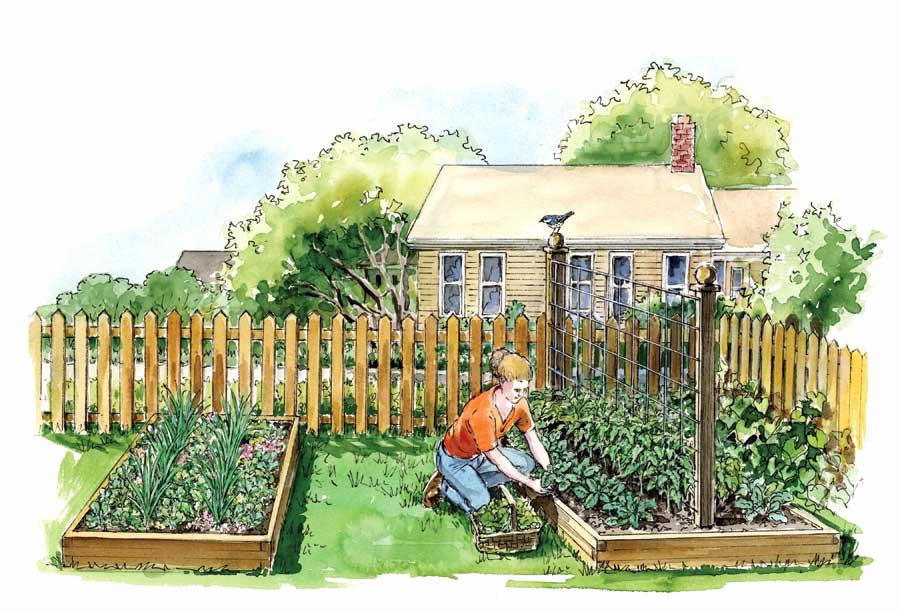 весенний огород с картинками скамью максимально комфортной