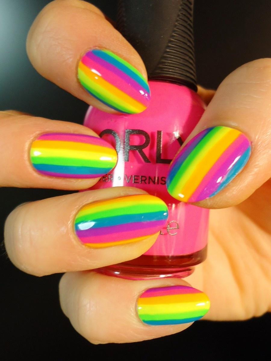 Картинки дизайн ногтей яркие цвета