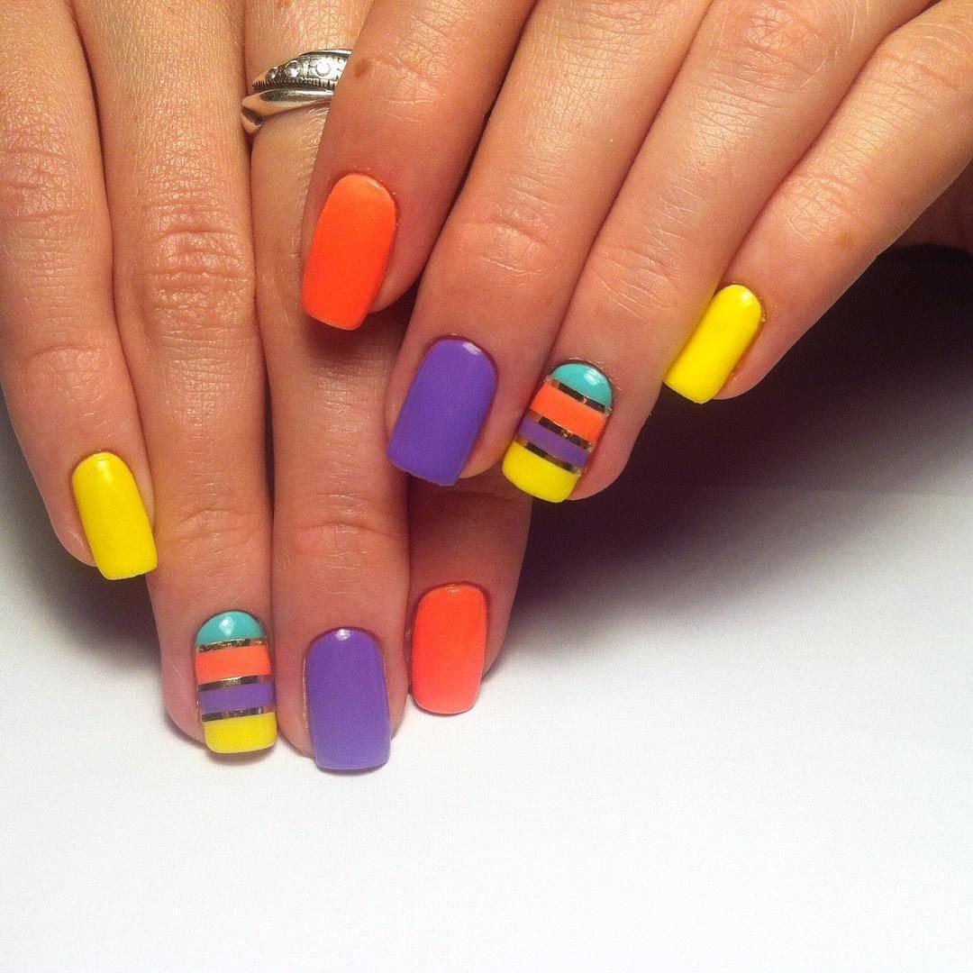 картинки яркий дизайн ногтей