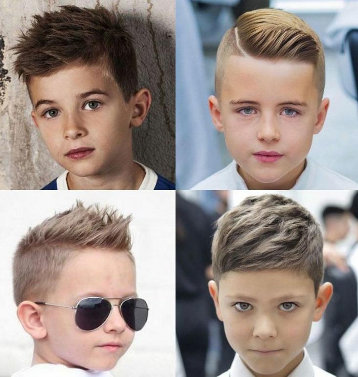 Короткие стрижки мальчику, модные 2020