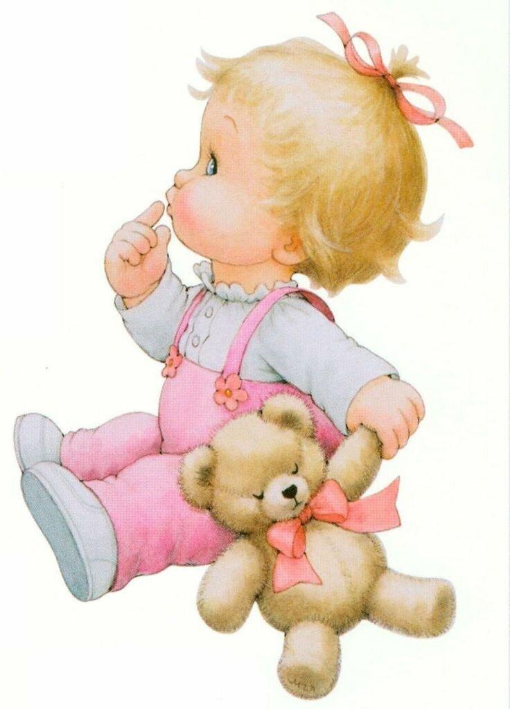 Открытка с игрушкой для девочек