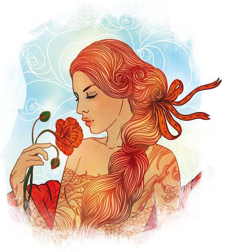 Картинки женщина дева