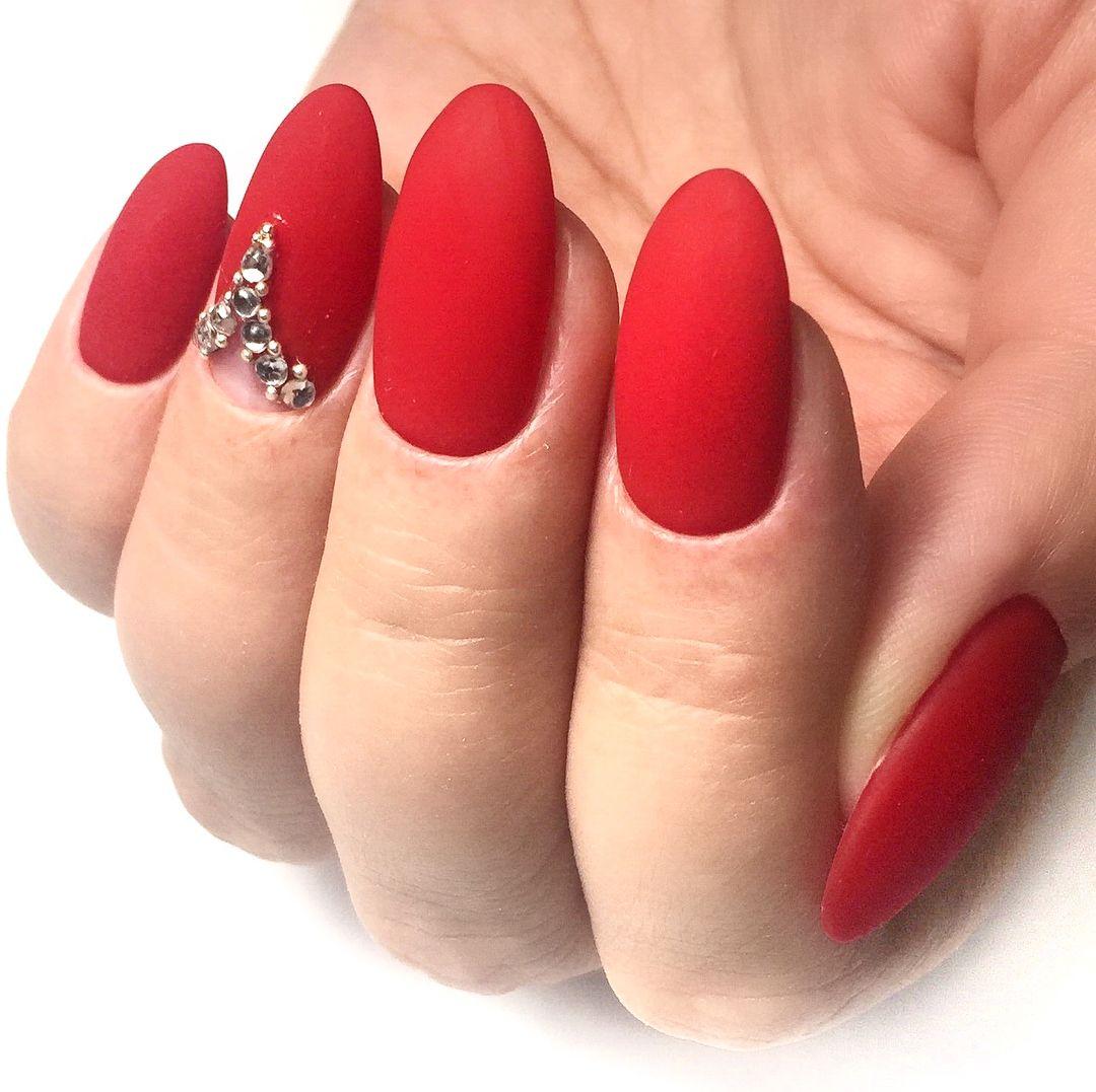 фото матовые красные ногти отжигают полной любое