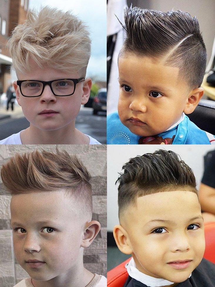 Модные стрижки мальчику, короткие и средние прически 2020