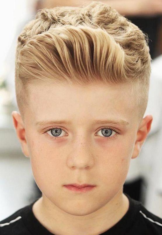 Стильная стрижка с зачесом мальчику 10 лет 2020