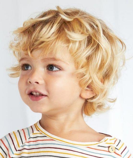 Стрижка для мальчика 3 года 2021, модные детские прически, короткие и средние