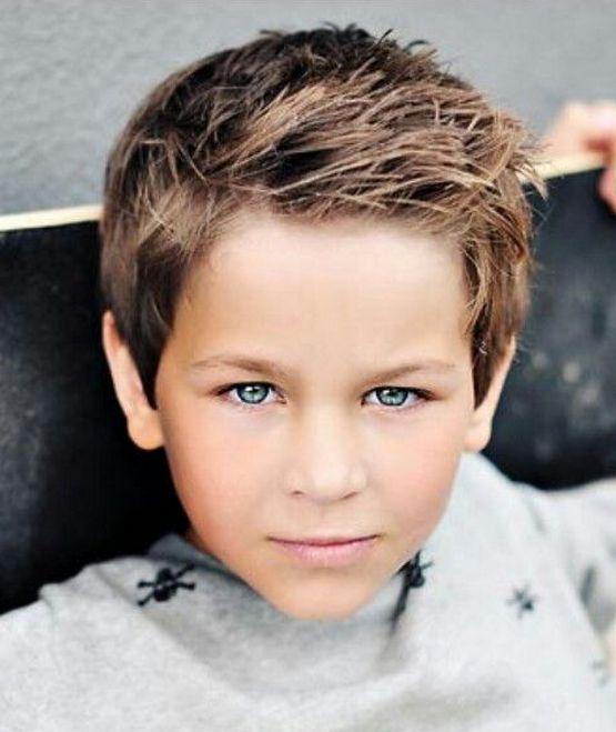 Стрижки для мальчика тонкие волосы 10 лет 2020